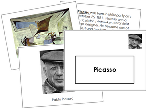 Pablo Picasso Art Book - montessori art materials