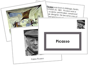 Pablo Picasso Art Book - free montessori art materials