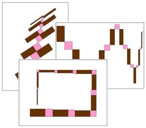 Montessori Pink Tower & Brown Stair Pattern Cards (Set 2) - Montessori Print Shop