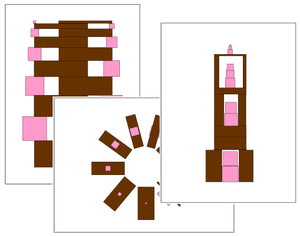 Montessori Pink Tower and Brown Stair - Montessori Print Shop