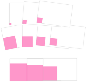 Montessori Pink Tower Cards