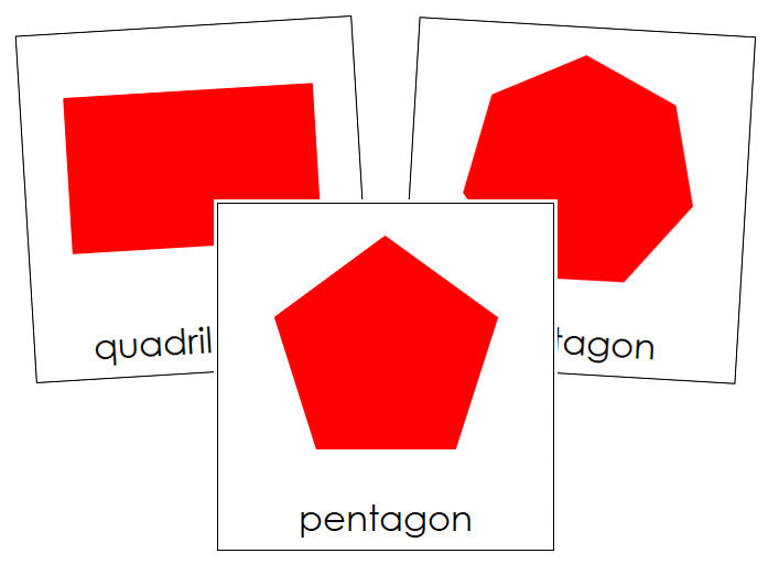 Polygons (complex concepts) - Montessori Print Shop geometry cards