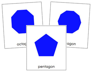 Polygons - Montessori Print Shop geometry cards