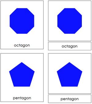 Polygons 3-Part Cards - Montessori Print Shop geometry cards