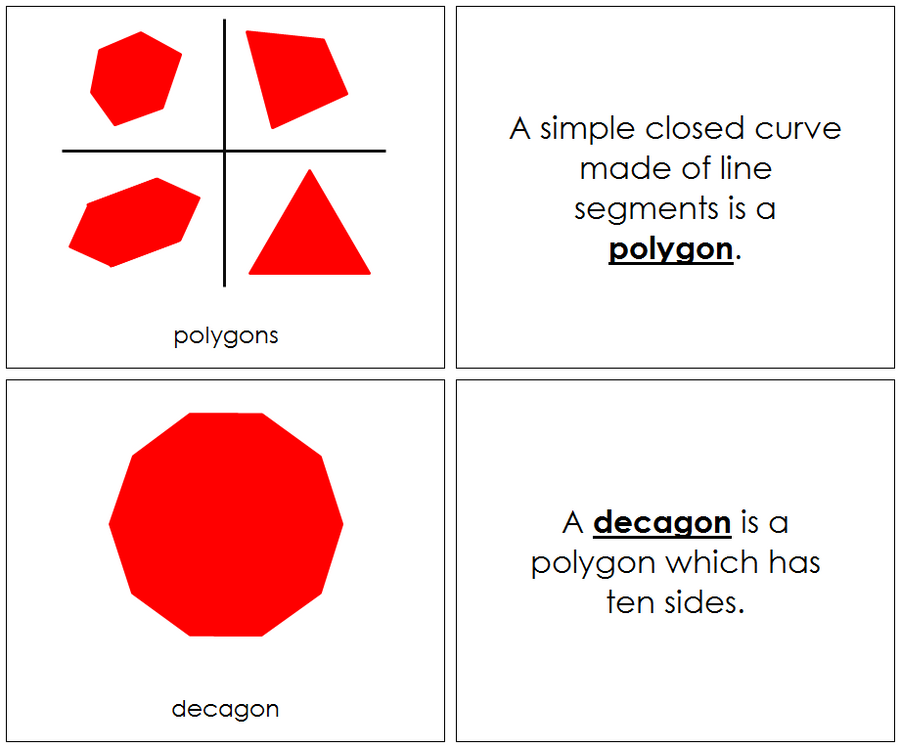 Polygons (complex concepts) Geometry Book - Montessori Print Shop