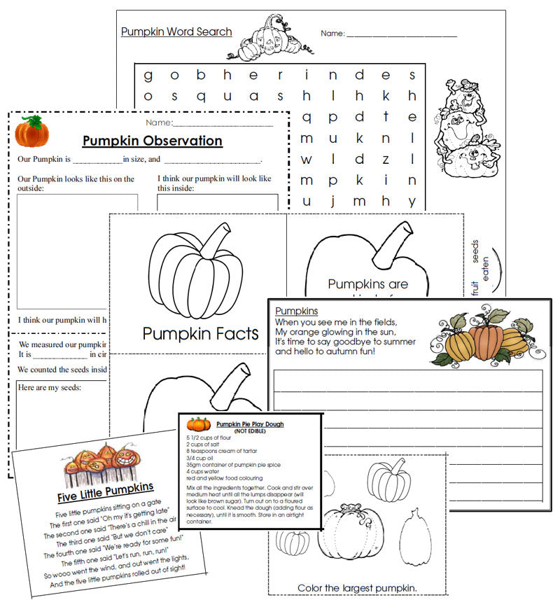 Pumpkin Unit Starter - Montessori Print Shop