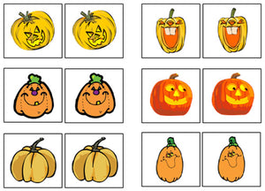 Pumpkin Match-Up & Memory Game - Montessori Print Shop