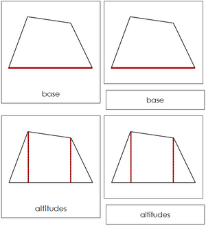 Study of a Quadrilateral Cards - Montessori geometry
