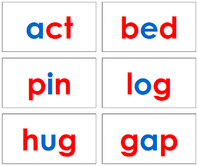 Phonetic Word Cards Level 1 - Montessori language cards