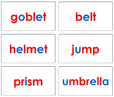Phonetic Word Cards Level 2 - Montessori language cards