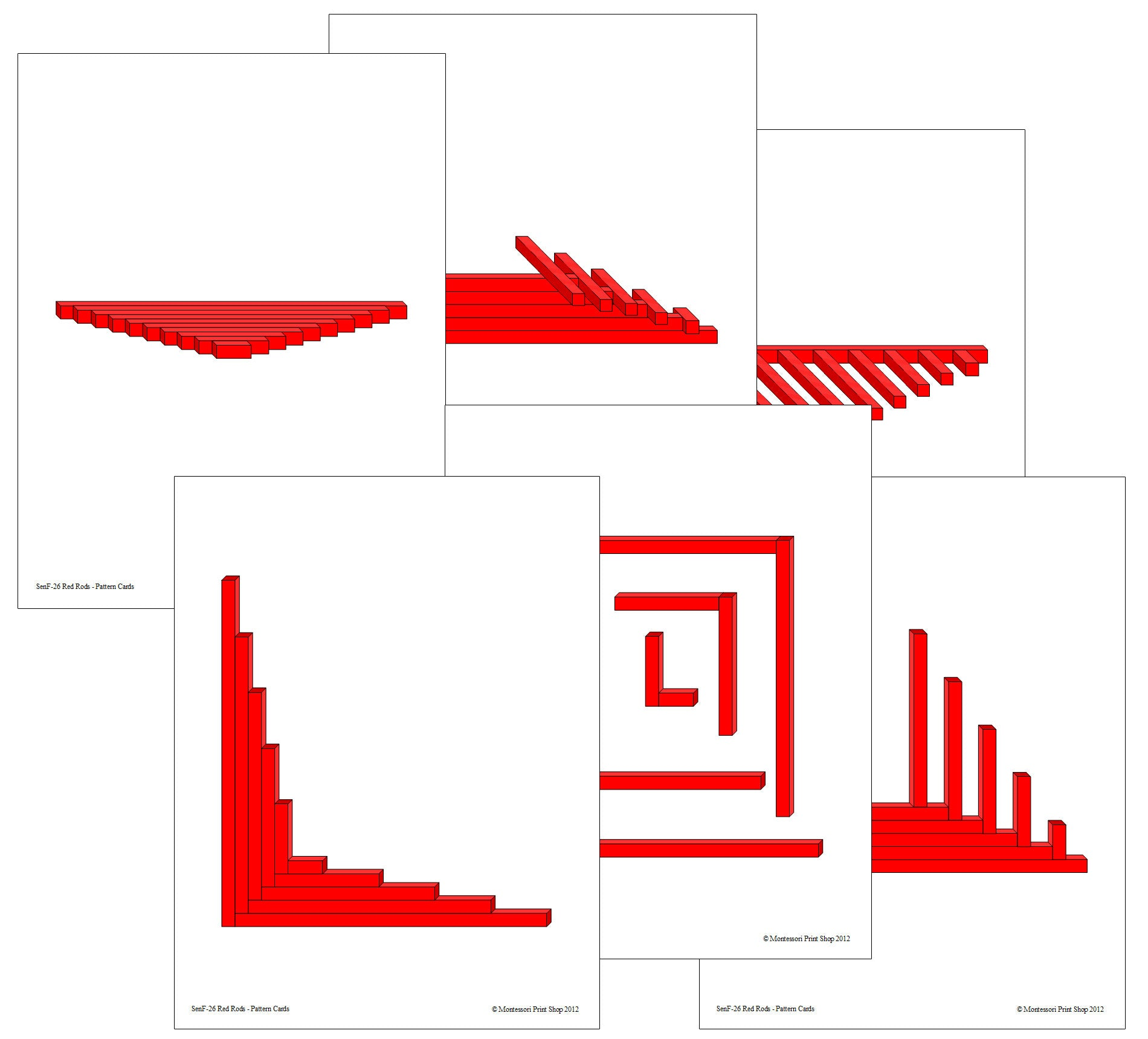 Red Rod & Number Rod Pattern Cards - Montessori Print Shop ...