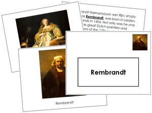 Rembrandt Art Book - montessori art materials