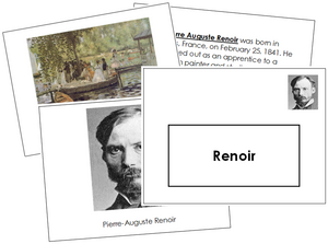 Pierre-Auguste Renoir Art Book - montessori art materials