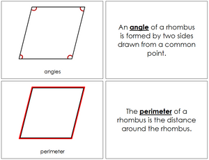 Study of a Rhombus Geometry Book - Montessori Print Shop