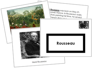 Henri Rousseau Art Book - montessori art materials
