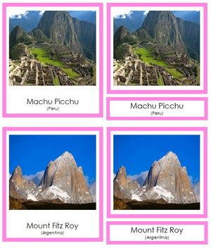 South American Landmarks (color-coded) - Montessori Print Shop