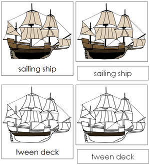 Sailing Ship Nomenclature Cards - Montessori Print Shop
