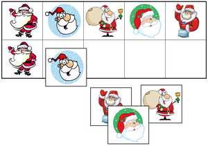 Santa Match-Up & Memory Game - Montessori Print Shop
