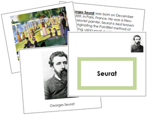Georges Seurat Art Book - montessori art materials