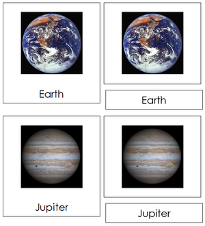 Solar System Nomenclature Cards - Montessori science cards