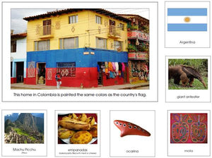 South America Geography Bundle - Montessori geography cards