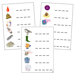 Step 2: Phonetic Spelling Cards - Montessori phonetic  language cards - Montessori Print Shop