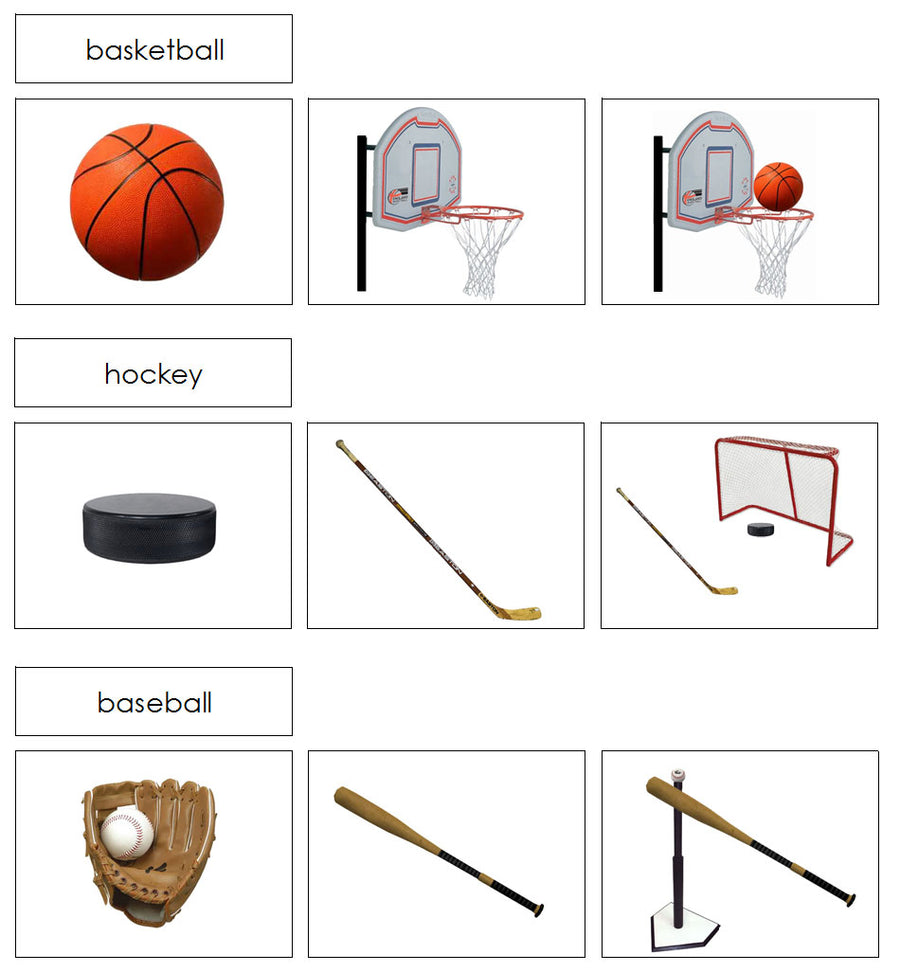 Sports & Equipment Cards - Montessori Print Shop