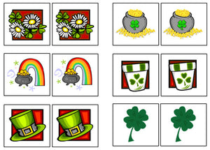 St. Patrick's Day Match-Up & Memory Game - Montessori Print Shop