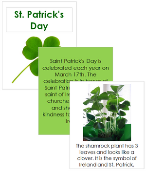 St. Patrick's Day Celebration Cards - Montessori Print Shop
