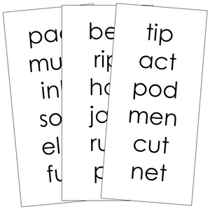 Step 1: Phonetic Word Lists - Montessori language cards