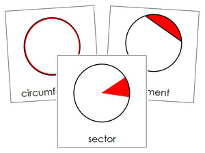 Study of a Circle Cards - Montessori Print Shop geometry cards