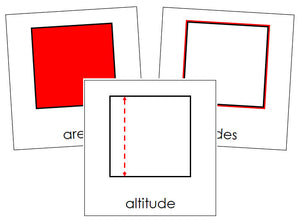 Study of a Square Cards - Montessori Print Shop geometry cards