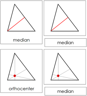 Study of a Triangle Cards - Montessori geometry
