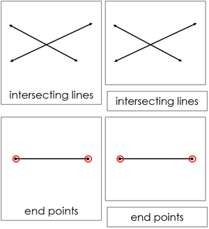 Study of Lines Cards - Montessori geometry