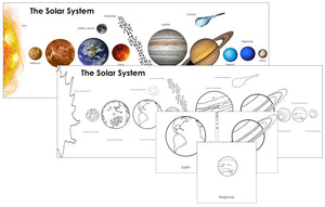 The Solar System Charts and Cards - Montessori Print Shop Astronomy
