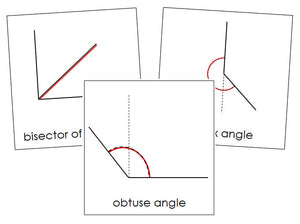 Study of Angles Cards - Montessori Print Shop geometry cards