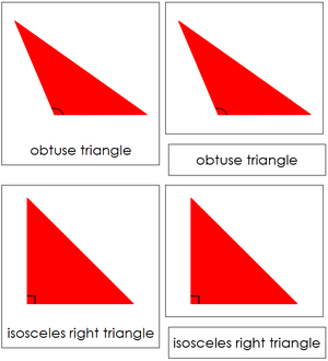 Triangle Cards (complex) - Montessori geometry