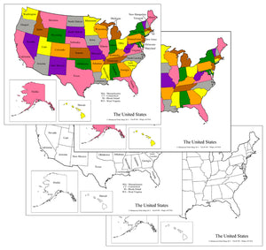 United States Maps & Masters - Montessori geography materials