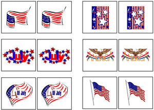 US 4th of July Match-Up & Memory - Montessori Print Shop
