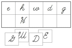 Upper & Lower Case Letter Match (Cursive) - Montessori Print Shop