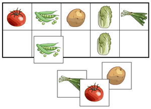 Vegetable Match-Up & Memory Game - Montessori Print Shop