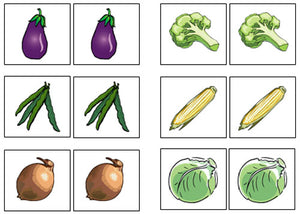 Vegetable Match-Up & Memory - Montessori Print Shop