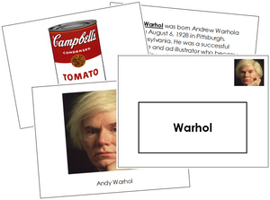 Andy Warhol Art Book - montessori art materials