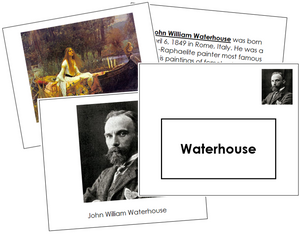 John William Waterhouse Art Book - montessori art materials