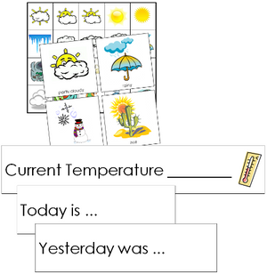 Weather Tracking Cards - Montessori science cards
