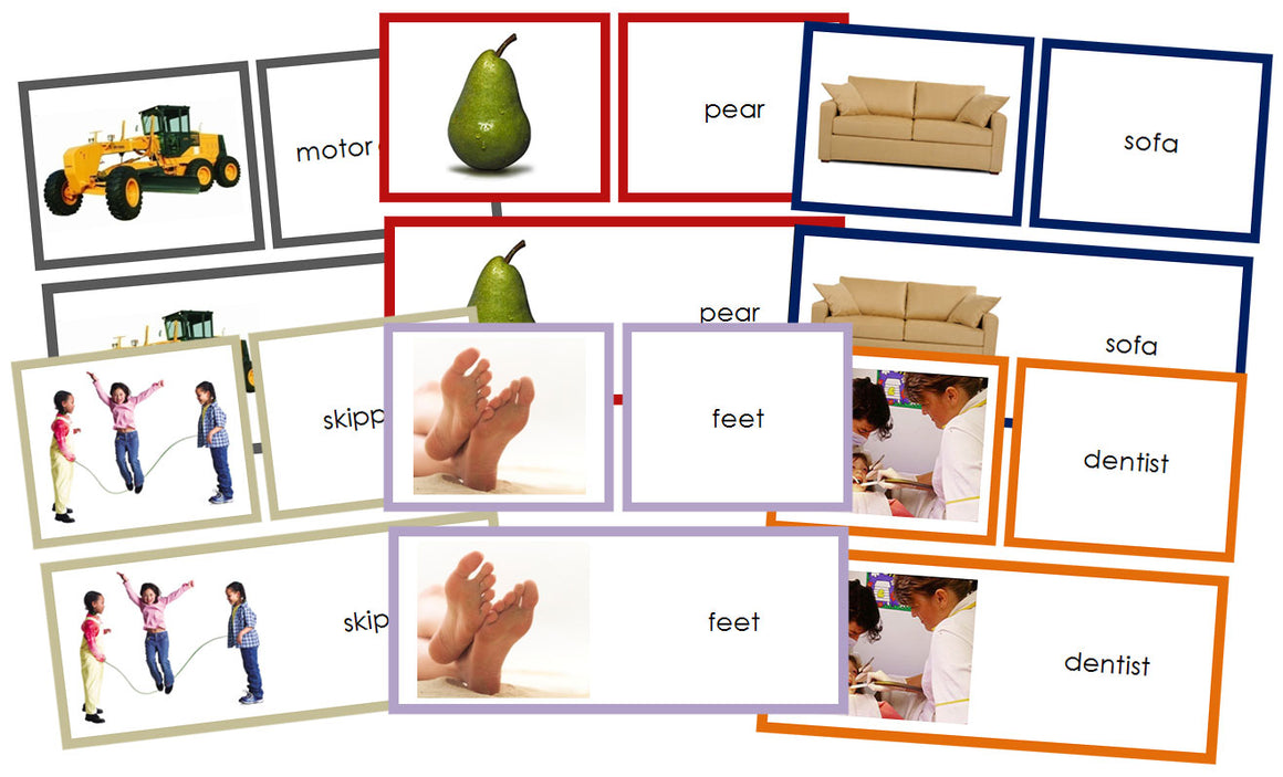 Words & Picture Cards Bundle - Montessori Print Shop