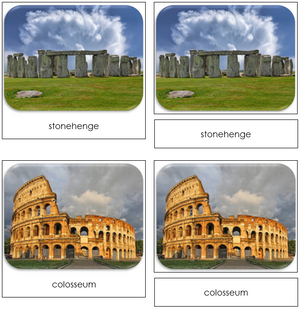 World Landmarks - Safari Toob Cards
