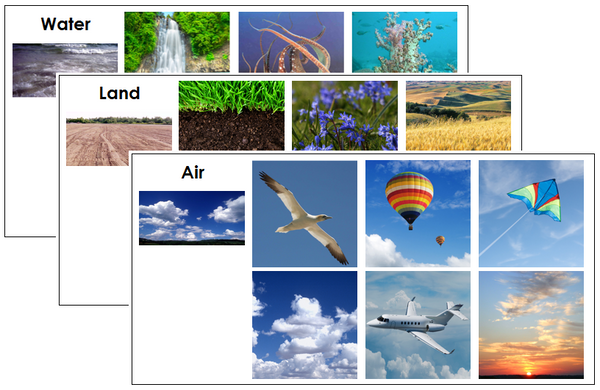 Air, Land, And Water Sorting Cards