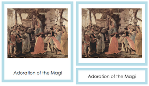 Sandro Botticelli Art Cards - montessori art cards