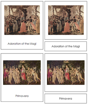 Sandro Botticelli Art Cards - Montessori Print Shop